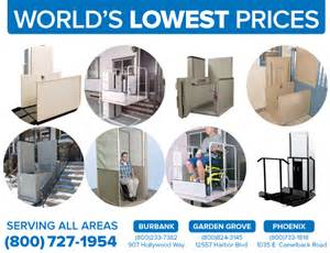 affordable inexpensive second hand used cheap vertical platform lifts porch vpl pl50 macs bruno harmar trus-t-lift in Sun City